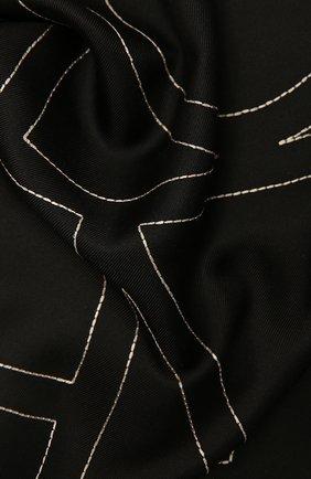 Женский шелковый платок TOTÊME черного цвета, арт. 212-873-803   Фото 2