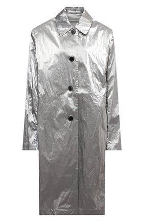 Женское пальто DRIES VAN NOTEN серебряного цвета, арт. 211-10246-2158   Фото 1