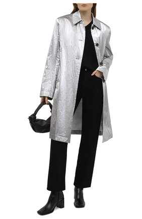 Женское пальто DRIES VAN NOTEN серебряного цвета, арт. 211-10246-2158   Фото 2