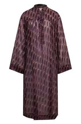 Женская хлопковая туника DRIES VAN NOTEN сиреневого цвета, арт. 211-11049-2001   Фото 1