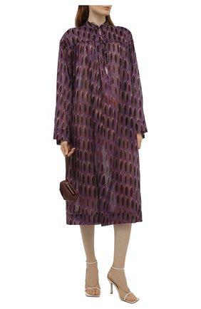 Женская хлопковая туника DRIES VAN NOTEN сиреневого цвета, арт. 211-11049-2001   Фото 2