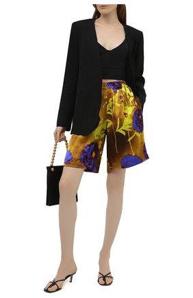 Женские шорты из вискозы и шелка DRIES VAN NOTEN разноцветного цвета, арт. 211-10954-2089   Фото 2 (Материал внешний: Вискоза; Женское Кросс-КТ: Шорты-одежда; Стили: Гламурный; Длина Ж (юбки, платья, шорты): Мини)