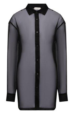 Женская шелковая рубашка DRIES VAN NOTEN черного цвета, арт. 211-10748-2360   Фото 1