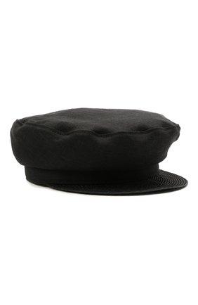 Женская льняная кепка YOHJI YAMAMOTO черного цвета, арт. ND-H03-360   Фото 1