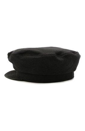 Женская льняная кепка YOHJI YAMAMOTO черного цвета, арт. ND-H03-360   Фото 2