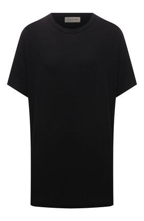 Женская хлопковая футболка YOHJI YAMAMOTO черного цвета, арт. FD-T06-072   Фото 1