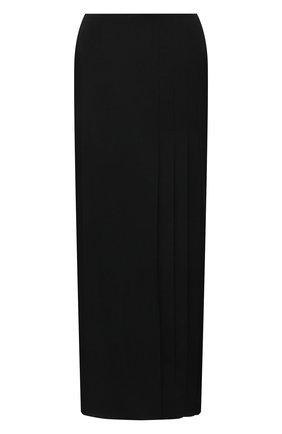 Женская шерстяная юбка YOHJI YAMAMOTO черного цвета, арт. FD-S06-100   Фото 1