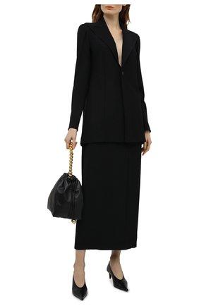Женская шерстяная юбка YOHJI YAMAMOTO черного цвета, арт. FD-S06-100   Фото 2