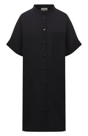 Женская хлопковое платье 5PREVIEW черного цвета, арт. 5PW21001 | Фото 1