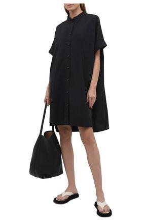 Женская хлопковое платье 5PREVIEW черного цвета, арт. 5PW21001 | Фото 2