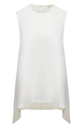 Женский топ из вискозы 5PREVIEW белого цвета, арт. 5PW21109 | Фото 1