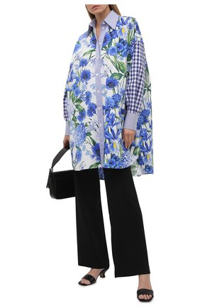 Женская хлопковая рубашка DOLCE & GABBANA голубого цвета, арт. I5598W/GDZAM | Фото 2