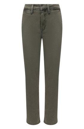 Женские брюки из хлопка и вискозы PAIGE хаки цвета, арт. 6718G29-6338 | Фото 1