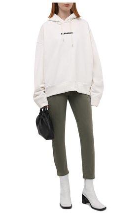Женские брюки из хлопка и вискозы PAIGE хаки цвета, арт. 6718G29-6338 | Фото 2