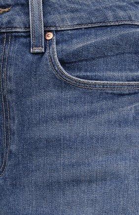 Женские джинсовые шорты PAIGE синего цвета, арт. 6234635-8598 | Фото 5 (Женское Кросс-КТ: Шорты-одежда; Кросс-КТ: Деним; Длина Ж (юбки, платья, шорты): Мини; Материал внешний: Хлопок; Стили: Кэжуэл)