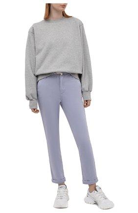 Женские брюки из хлопка и вискозы PAIGE сиреневого цвета, арт. 5659G29-4698   Фото 2