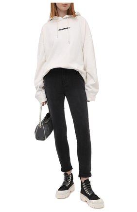 Женские брюки из вискозы и хлопка PAIGE серого цвета, арт. 5659901-3935 | Фото 2