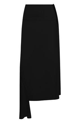 Женская юбка из вискозы и шелка JIL SANDER черного цвета, арт. JSWS356205-WS390702 | Фото 1