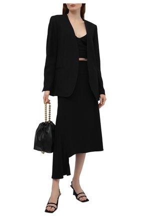 Женская юбка из вискозы и шелка JIL SANDER черного цвета, арт. JSWS356205-WS390702 | Фото 2