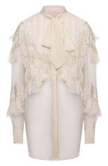 Женская шелковая блузка VALENTINO кремвого цвета, арт. VB0AB2902UP   Фото 1