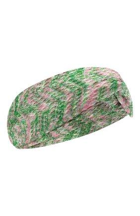 Женская повязка на голову MISSONI зеленого цвета, арт. MDS00097/BR00DY | Фото 1