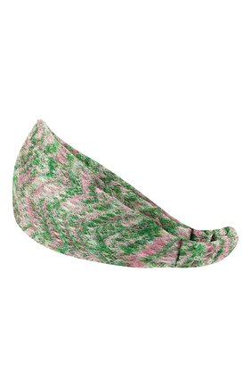 Женская повязка на голову MISSONI зеленого цвета, арт. MDS00097/BR00DY | Фото 2