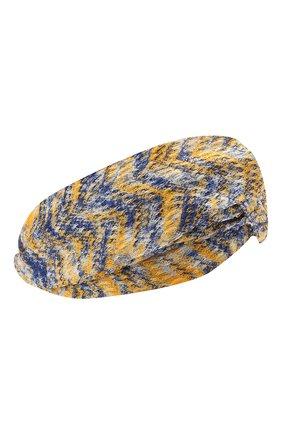 Женская повязка на голову MISSONI желтого цвета, арт. MDS00097/BR00DY | Фото 1