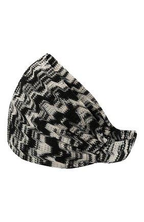 Женская повязка на голову MISSONI черно-белого цвета, арт. MDS00098/BR00CP | Фото 2