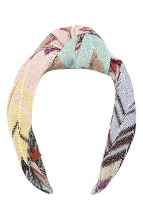 Женский ободок для волос MISSONI разноцветного цвета, арт. MDS00309/BR00DR | Фото 1