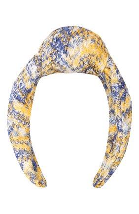 Женский ободок для волос MISSONI желтого цвета, арт. MDS00309/BR00DY | Фото 1