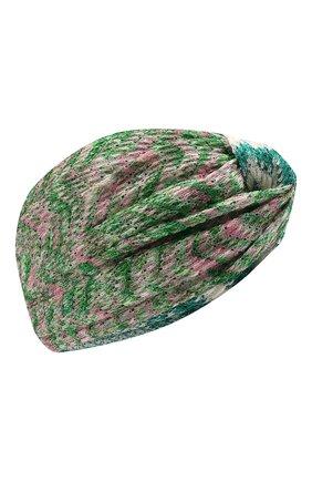 Женская повязка на голову MISSONI зеленого цвета, арт. MDS00385/BR00DY | Фото 1