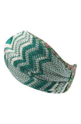 Женская повязка на голову MISSONI зеленого цвета, арт. MDS00385/BR00DY | Фото 2