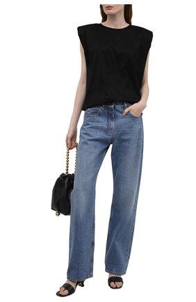 Женская хлопковая футболка ERIKA CAVALLINI черного цвета, арт. S1/P/P1SK03 | Фото 2