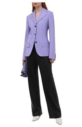 Женский шерстяной жакет VERSACE сиреневого цвета, арт. A88911/1F01050   Фото 2