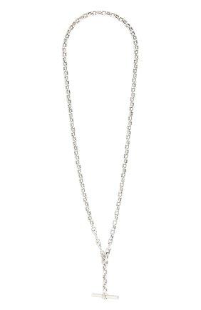 Женское колье BOTTEGA VENETA серебряного цвета, арт. 657482/V5070   Фото 1