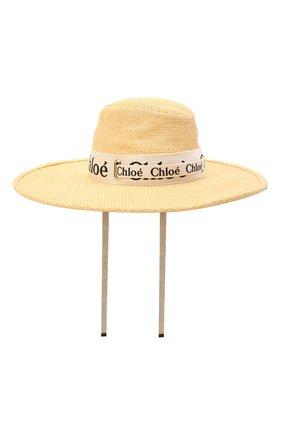 Женская шляпа CHLOÉ бежевого цвета, арт. CHC21UD011RCR | Фото 1 (Материал: Вискоза, Текстиль)