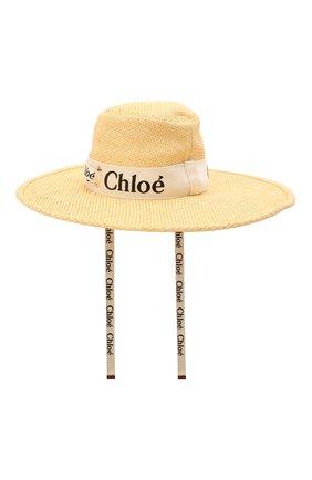 Женская шляпа CHLOÉ бежевого цвета, арт. CHC21UD011RCR | Фото 2 (Материал: Вискоза, Текстиль)