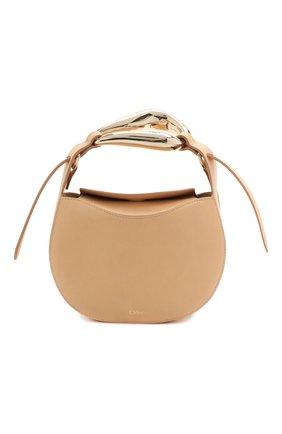Женская сумка kiss CHLOÉ бежевого цвета, арт. CHC21US350E48 | Фото 1