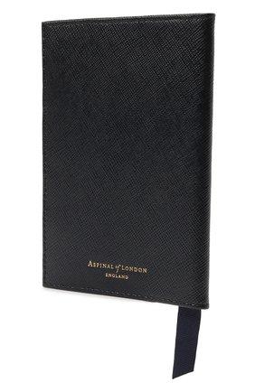 Мужской кожаная обложка для паспорта ASPINAL OF LONDON темно-синего цвета, арт. 062-0453_24690000 | Фото 2