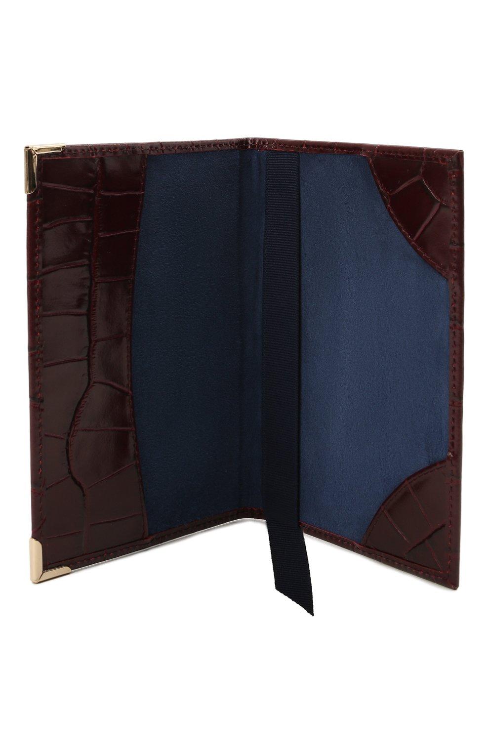 Мужской кожаная обложка для паспорта ASPINAL OF LONDON бордового цвета, арт. 062-0453_18250000 | Фото 3