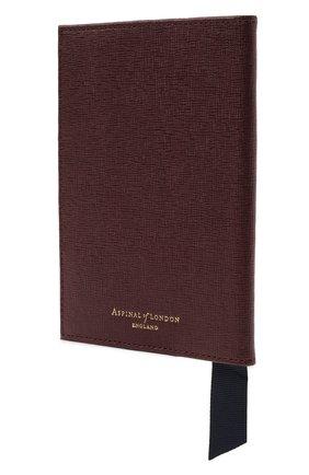 Мужской кожаная обложка для паспорта ASPINAL OF LONDON бордового цвета, арт. 062-0453_16380000 | Фото 2