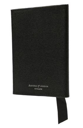 Мужской кожаная обложка для паспорта ASPINAL OF LONDON черного цвета, арт. 062-0453_14230000 | Фото 2