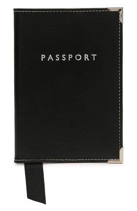 Мужской кожаная обложка для паспорта ASPINAL OF LONDON черного цвета, арт. 062-0453_00210000 | Фото 1
