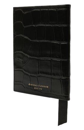 Мужской кожаная обложка для паспорта ASPINAL OF LONDON черного цвета, арт. 062-0453_00170000 | Фото 2