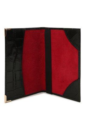 Мужской кожаная обложка для паспорта ASPINAL OF LONDON черного цвета, арт. 062-0453_00170000   Фото 3