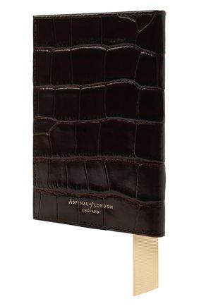 Мужской кожаная обложка для паспорта ASPINAL OF LONDON коричневого цвета, арт. 062-0453_00010000 | Фото 2