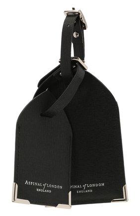 Мужской кожаная багажная бирка ASPINAL OF LONDON темно-коричневого цвета, арт. 062-0117_14210000 | Фото 1