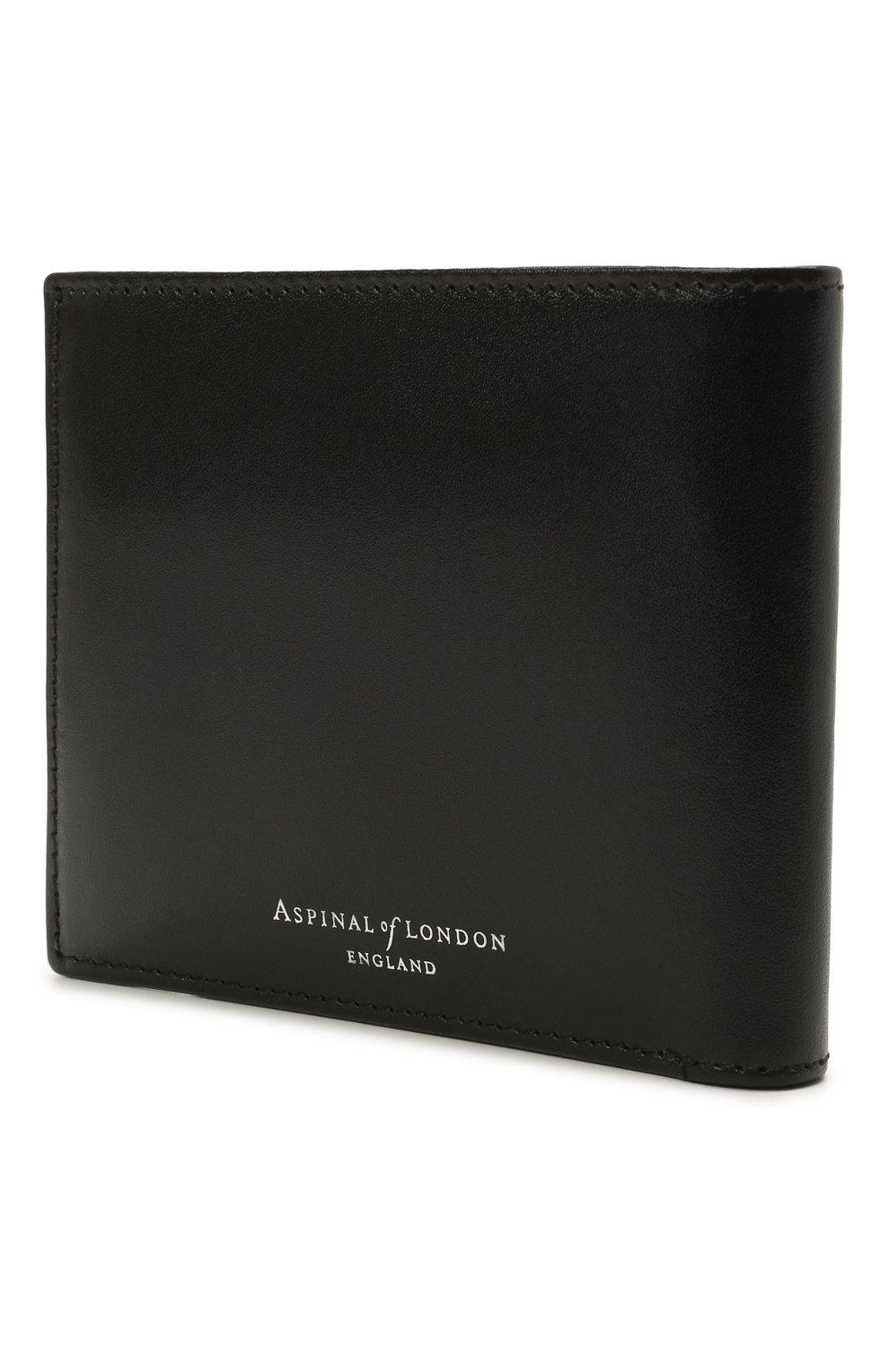 Мужской кожаное портмоне ASPINAL OF LONDON черного цвета, арт. 039-2353_00190000 | Фото 2