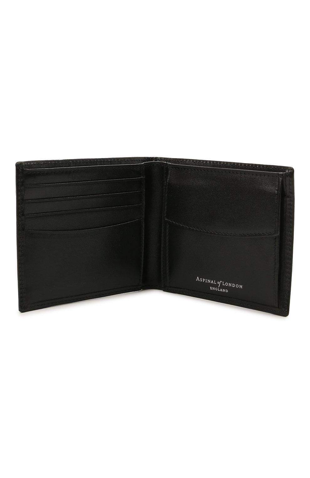 Мужской кожаное портмоне ASPINAL OF LONDON черного цвета, арт. 039-2353_00190000 | Фото 3