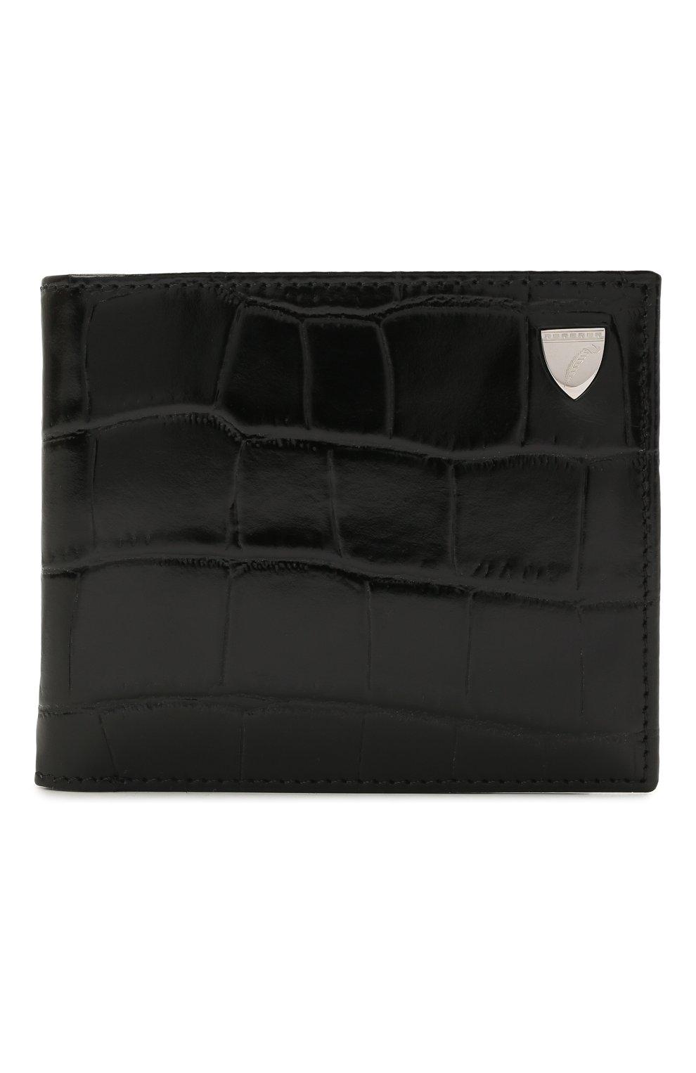Мужской кожаное портмоне ASPINAL OF LONDON черного цвета, арт. 039-2353_00150000 | Фото 1